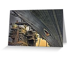 Super structure USS Kitty Hawk Greeting Card