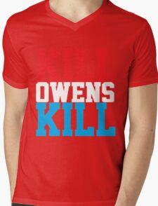 Kill Owens Kill (Red/White/White) Mens V-Neck T-Shirt