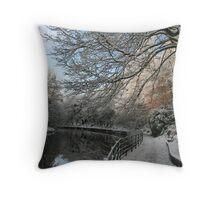 Autumn White Throw Pillow