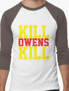 Kill Owens Kill (Red/Yellow) Men's Baseball ¾ T-Shirt