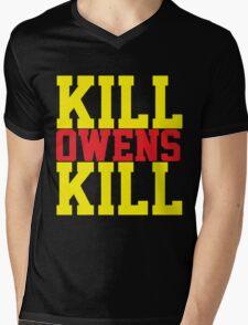 Kill Owens Kill (Red/Yellow) Mens V-Neck T-Shirt