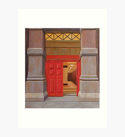 Behind the Red Door (study), Oil on Linen, 38x34.5cm. Art Print