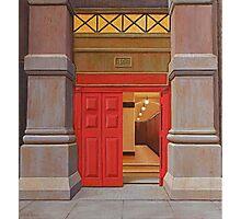 Behind the Red Door (study), Oil on Linen, 38x34.5cm. Photographic Print