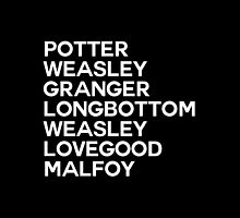 Potter Group Names by dandelionnwine