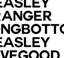 Potter Group Names White Sticker