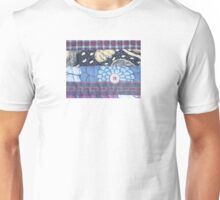 Vintage Blues textile art, stitching Unisex T-Shirt