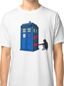 The Doctor Parked His Tardis Down Splott Classic T-Shirt