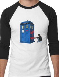 The Doctor Parked His Tardis Down Splott Men's Baseball ¾ T-Shirt
