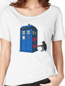 The Doctor Parked His Tardis Down Splott Women's Relaxed Fit T-Shirt