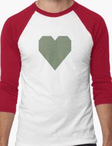 Camouflage Green  Men's Baseball ¾ T-Shirt