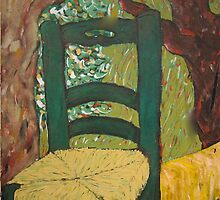 The Chair in the Garden by the Tree by Jeffrey DeVore