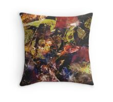 Leaves under water Throw Pillow