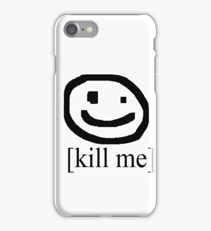 [Kill Me] (Bad Drawing Collection) iPhone Case/Skin