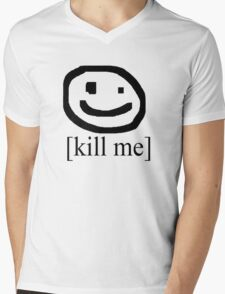 [Kill Me] (Bad Drawing Collection) Mens V-Neck T-Shirt