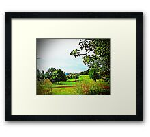 A Picturesque Country View Framed Print
