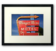Route 66 - Munger Moss Motel Framed Print