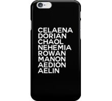 Throne of Glass Group Names Black iPhone Case/Skin