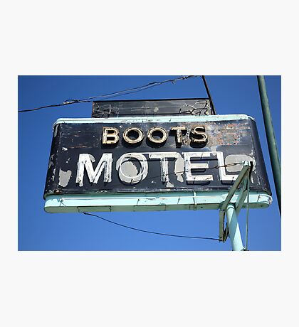 Route 66 - Boots Motel Photographic Print