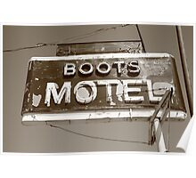 Route 66 - Boots Motel Poster