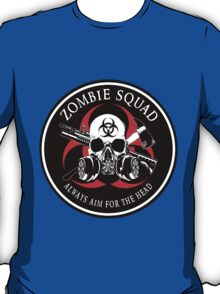 Biohazard Zombie Squad Always aim for the head Ring Patch outlined T-Shirt