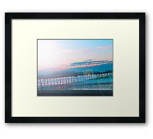 Sunrise in Orange and Blue Skies Framed Print