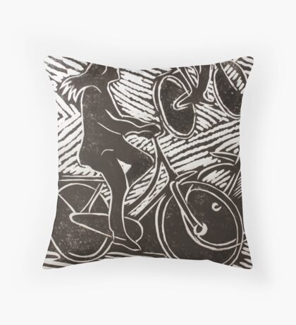 Detail of two Women Throw Pillow