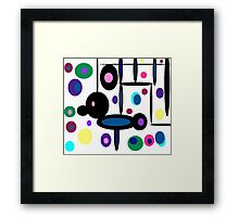 Mr. Game and Watch's Psychedelic  Framed Print