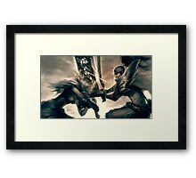 Riven & Yasuo - League of Legends (1) Framed Print