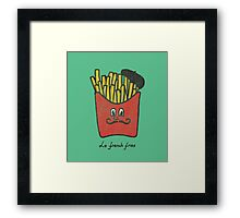 Le French fries Framed Print