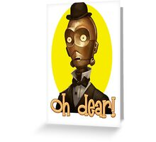 Vintage C3PO Greeting Card