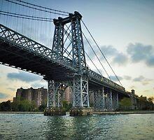 Williamsburg bridge...East River Side, NYC by Poete100