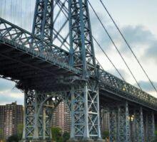 Williamsburg bridge...East River Side, NYC Sticker