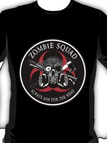 Biohazard Zombie Squad Always aim for the head Ring Patch outlined 2 T-Shirt