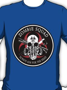 Biohazard Zombie Squad Always aim for the head F U Ring Patch outlined T-Shirt