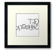 Get Sherl☺ck (Mirror) Framed Print