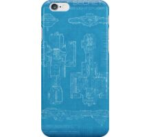 Top Secret Spaceship Blueprint iPhone Case/Skin
