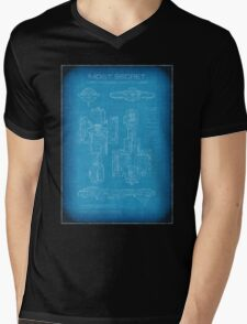 Top Secret Spaceship Blueprint Mens V-Neck T-Shirt