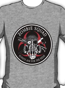 Biohazard Zombie Squad Always aim for the head F U Ring Patch outlined 2 T-Shirt