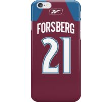 Colorado Avalanche Peter Forsberg Jersey Back Phone Case iPhone Case/Skin
