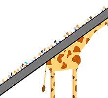 Giraffe Escalator  by Blunderful
