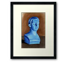 Blue or Bust Framed Print