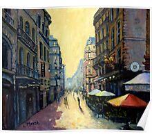 L'escargot on Rue Montorgueil,  Paris,  France - with border Poster