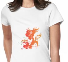 Orange Fairy Girl Womens Fitted T-Shirt