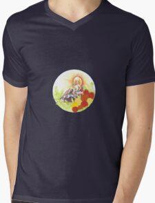 Woman In Rickshaw Mens V-Neck T-Shirt