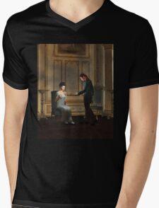 Regency Era Couple in Candlelit Ballroom Mens V-Neck T-Shirt