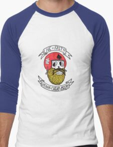 LIVE FAST DRINK CHEAP BEER Men's Baseball ¾ T-Shirt