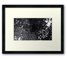 Black & White Splatter Framed Print