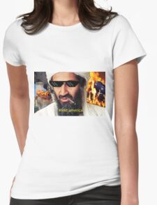 Uncle Osama Mlg Womens Fitted T-Shirt