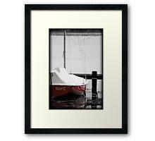 Red Hull Framed Print