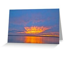Sunset, Pumicestone Passage, Bribie Island Greeting Card